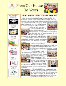 April Newsletter 2018