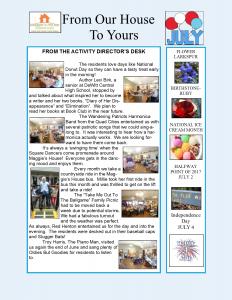 July Newsletter 2017